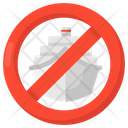 Stop Shipping Travel Prohibition Ship Prohibition Icon