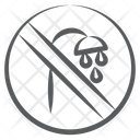 Stop Shower Icon
