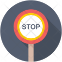 Prohibition Stop Sign Icon
