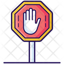 Stop Sign No Entry Prohibition Icon