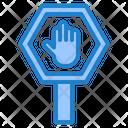 Stop Sign Arrow Road Icon