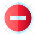 Stop Block Sign Icon