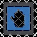 Stop Block Road Icon