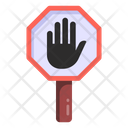 Stop Sign Road Post Traffic Board Icon