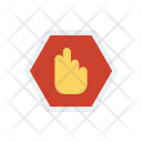 Stop Hand Sign Icon