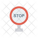 Stop Sign Board Icon