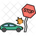 Stop Sign With Car Accident Accident Automobile Icon