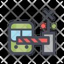 Stop Train Railway Station Train Station Icon