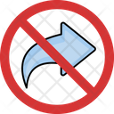 No Turn Right Right Turn Not Allowed Right Prohibition Icon