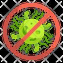 Stop Virus No Virus Diagnosis Icon