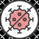 No Virus Covid 19 Icon