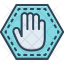 Stopping Sign Palm Icon