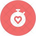 Stopwatch Heart Sign Icon