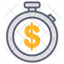 Stopwatch Clock Finance Icon