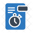 Stopwatch File Document Icon