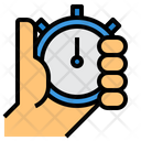 Stopwatch Time Record Hand Icon