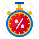 Stopwatch Time Shopping Icon