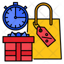 Stopwatch Sale Promotion Icon