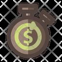 Stopwatch Money Icon
