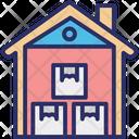 Down Storage Unit Storehouse Icon