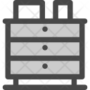Storage Cabinet Drawers Icon