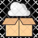 Box Carton Cloud Icon