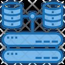 Storage Big Data Blockchain Icon