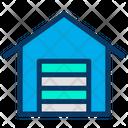 Warehouse Factories Stocks Icon