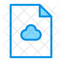 Cloud Computing Document File Icon