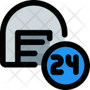 Storage Hours 24 Hours Service Support Icon