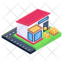 Depot Storage House Warehouse Icon