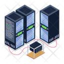 Server Room Storage Room Storage Racks Icon