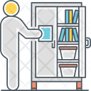 Storage Space Bureau Drawer Icon