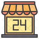 Open Hour Ecommerce Online Store Icon