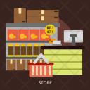 Store Building Interior Icon