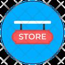 Store Label Store Board Hanging Board Icon