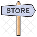 Store Direction Board Icon
