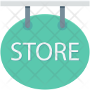Store Signboard Hanging Icon