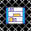 Vertical Storage Unit Icon