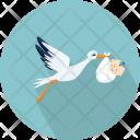 Stork Baby Chordata Icon