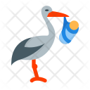 Stork with bundle Icon