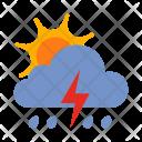 Lightning Storm Sun Icon