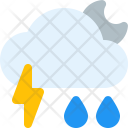 Storm Shower Night Icon