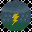 Lightening Storm Cloud Icon