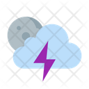 Cloud Forecast Moon Icon