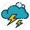 Storm Thunder Cloud Icon