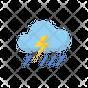 Storm Cloud Rain Icon