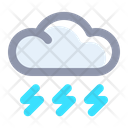 Stormy Lightning Weather Icon