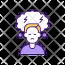 Stormy Sad Man Icon