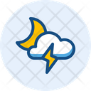 Stormy Night Night Storm Icon